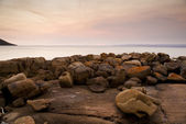Pastel Rocks at Sunset — Stock Photo