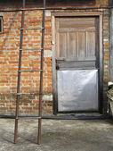 Ladder and Door — Stock Photo