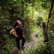 Woman Jungle Hiker — Stock fotografie