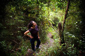 Woman Jungle Hiker — 图库照片