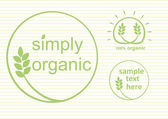 Organic Labels — Stock Vector