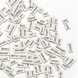 Stock Photo: Assorted Magnetic Words