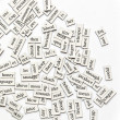 Assorted Magnetic Words — Stock Photo