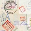 Fondo de sellos de pasaporte — Foto de Stock