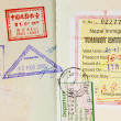Passport Stamps Background — Stock Photo #7833191