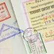 Passport Stamps Background — Stock Photo #7833224