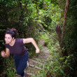 Woman Jungle Hiker — Foto Stock