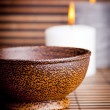 Exotic Bowl and Candles — Stockfoto
