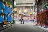 Graffiti Lane — Stock Photo