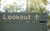 Lookout Sign — 图库照片
