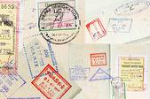 Passport Stamps Background — Stock Photo