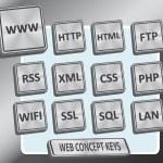 Web Concept Keys — Stock Vector #7830665