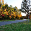 Stock Photo: Fall color on way to smokey mountain