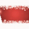 Red Christmas Card — Stock Photo
