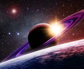 Zaobrączkowanych planety — Zdjęcie stockowe