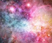 粉红色和红色星云 — 图库照片