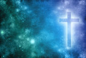 Christian Cross Background — Foto Stock