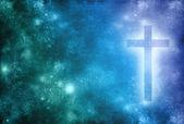 Fundo cruz cristã — Foto Stock