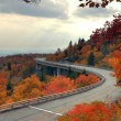 Linn Cove Panorama in Autumn - Stock Photo