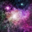 Stock Photo: Purple Nebula