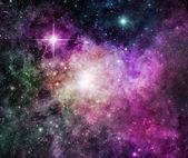 Purple Nebula — Stock Photo