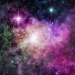 Purple Nebula — Stock Photo