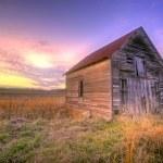 Old barn at sunrise — Stock Photo #7767311
