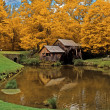Mabry Mill during fall - Stock Photo