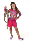 Girl with a rope on his arm — Stock Photo