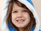 A girl in a bathrobe — Стоковое фото