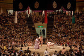 Sumo wrestlers in the ring — Stock Photo