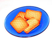 Crackers on the dish — Stock Photo