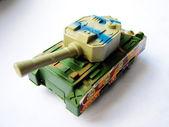 Children's toy tank — Stock Photo