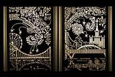 Ornate lightbox panels — Stock Photo