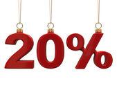 Tjugo procent formade jul röda bollar — Stockfoto