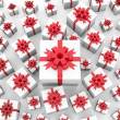Stock Photo: Giftboxes background