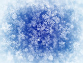 Winter background with fnowflakes — Stock Photo
