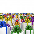 Foto de Stock  : Giftboxes on endless plane