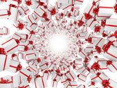 Giftboxes şekillendirme tünel. — Stok fotoğraf