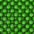 Green Christmas balls background — Stok Fotoğraf #7860323