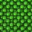 Green Christmas balls background — 图库照片