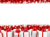 Christmas background with giftboxes — Stock Photo