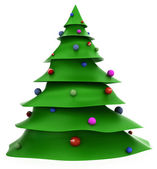 3D Cartoon christmas tree — Stock Photo