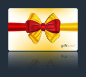 Gift card with colorful bow — Stock Vector