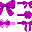 Violet gift ribbon set — Stock Vector