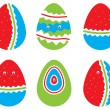 Vector set of Easter eggs — Stock Vector