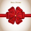 Merry Christmas card with a red bow — Stock Vector #7695814