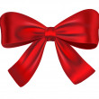 Red gift bow — Stock Vector