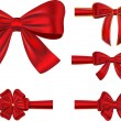 Festive ribbons with bows — Stock Vector