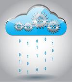 Cloud computing koncepce — Stock vektor